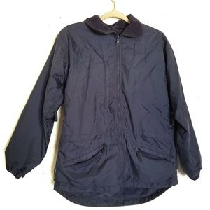 Columbia Jacket Zipper Blue Size Small Pockets